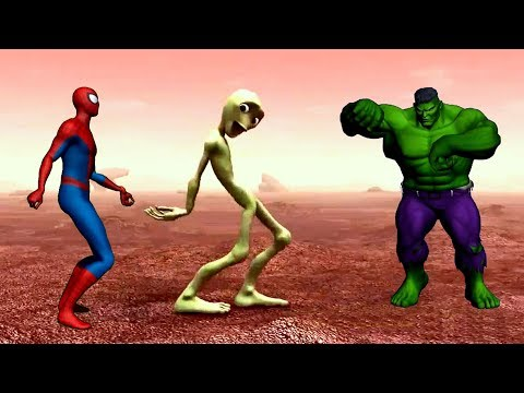 Dame Tu Cosita Dance Challenge - Alien vs Hulk and Spiderman | Dance Musically Compilation
