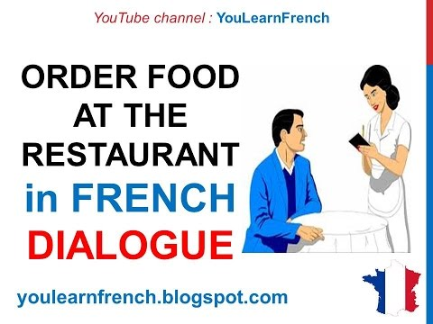 French Lesson 75 - Ordering food at the restaurant How to order food Conversation English subtitles