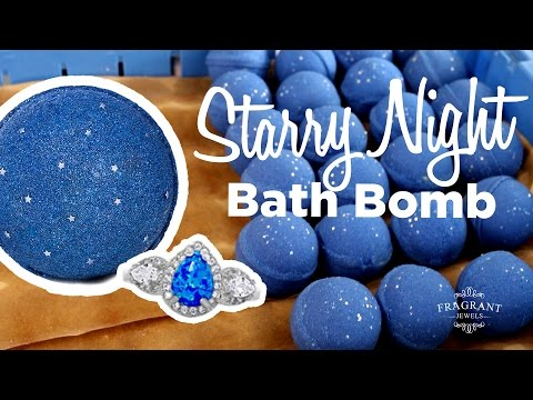 How It's Made: Starry Night Bath Bomb by Fragrant Jewels