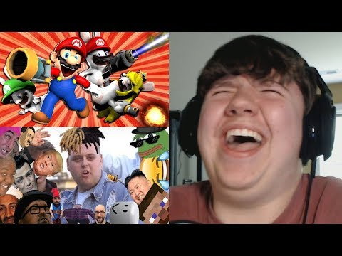 Reaction Monday #3 - Stupid Mario Rabbids + Try Not To Laugh Dank Meme And Offensive Edition 7