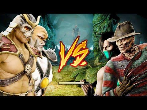 Mortal Kombat Komplete Edition - Emperor Shao Kahn & Blaze Tag Ladder 4K Gameplay Playthrough