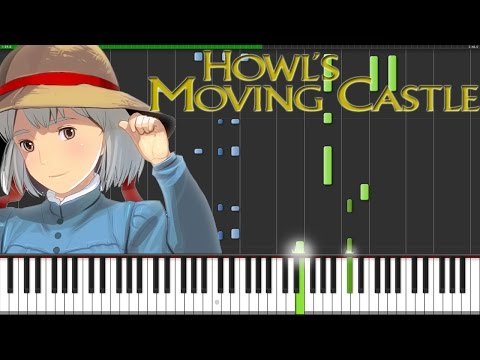 Howl's Moving Castle Theme [Piano Tutorial] (Synthesia) // Fontenele NXT