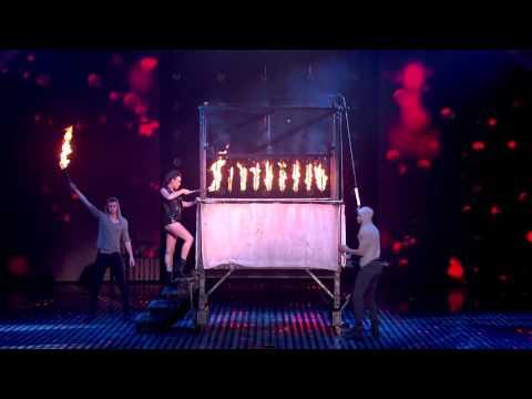 James More s firey magic act!   Semi Final 4   Britain s Got Talent