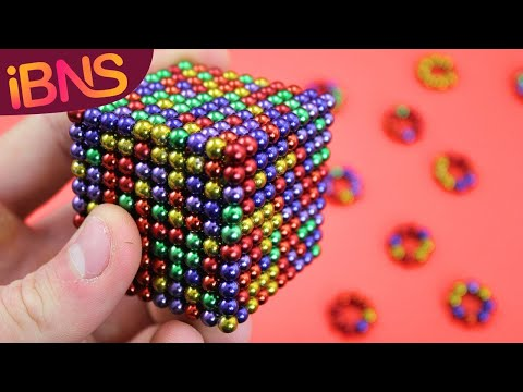 Playing with 1000 mini magnetic balls! (Fun with 1000 cube buckyballs)