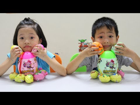 Kids pretend play Pick up the Easter egg at the farmhouse with Kids Belinda Show