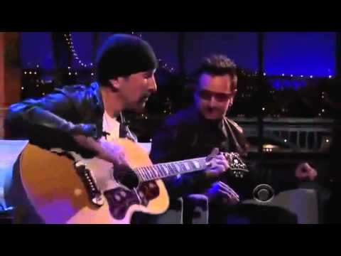 Bono and The Edge pay tribute to Michael Hutchence (Letterman, 2011)