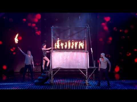 James More's firey magic act! | Semi-Final 4 | Britain's Got Talent 2013النهائي سحر خطير