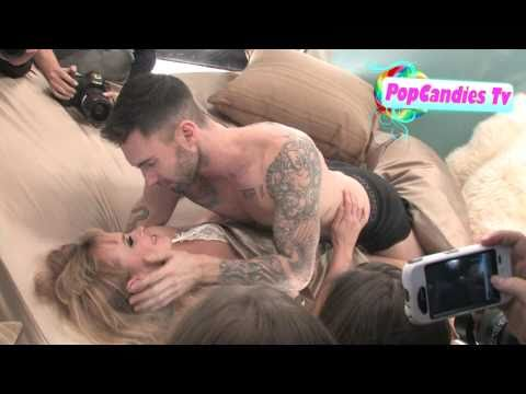 "Adam Levine & Anne Vyalitsyna Get Sexy @ ""Never Gonna Leave This Bed"" Video Shoot in Hollywood!"