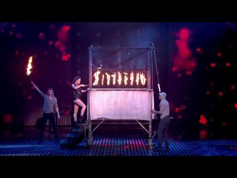 James More's firey magic act!   Semi Final 4   Britain's Got Talent 2013