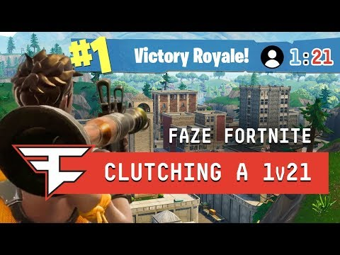 CLUTCHING A 1v21 IN TILTED TOWERS?! - Fortnite: Battle Royale