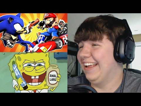 Reaction Monday #1 - Mario VS Sonic: PRANK BATTLE + Spinge Binge: Me Millionth Dollar