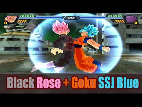 Goku SSG Blue and Black Goku Rose Fusion   Saiyan Blue Rose   DBZ Tenkaichi 3 (MOD)