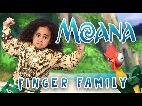 The Greatest Finger Family Song   Moana   Nursery Rhymes   WigglePop   Family Friendly   Kids Songs