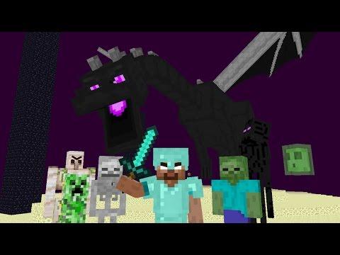 Monster School : Kill the Ender dragon - Minecraft Animation