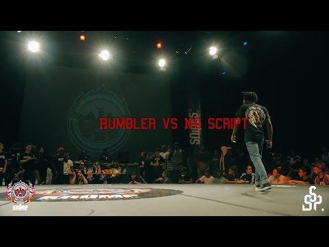Rumbler vs No Script | Male 1/8Final | EBS KRUMP WORLD CHAMPIONSHIP 2016