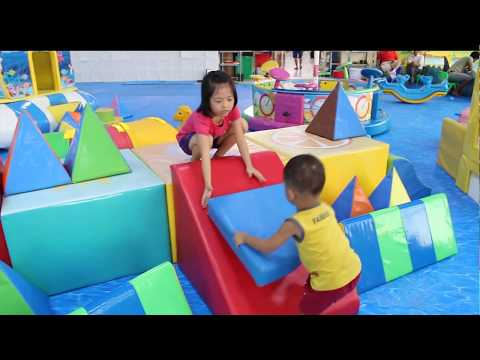 Kids playing in the play area for children by Kids Belinda Show