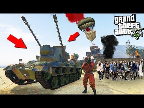 GTA 5 ZOMBIE MOD: STEALING THE ZOMBIE DESTROYER VEHICLE!!! (GTA 5 Mods)