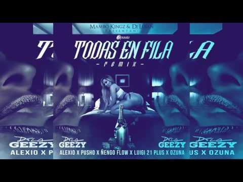 Ozuna, Nengo Flow, Luigi 21 Plus, De La Ghetto, Alexio, Pusho Todas En Fila Deluxe Edition Video