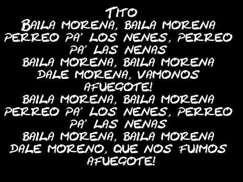 Baila Morena - Hector & Tito Ft Don Omar, Glory [Letra]