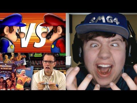 Reaction Monday #9 - War of the Fat Italians 2017 + Wrestling Games (AVGN)