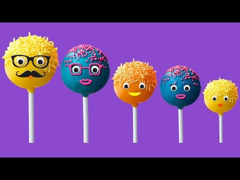 The Finger Family Cake Pop Family Nursery Rhyme   Cake Pop Finger Family Songs