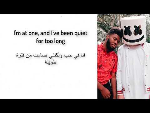 Marshmello ft. Khalid - Silence Lyrics   مترجمة
