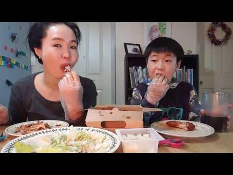 2017/4/6 치킨 6 교촌  레드 치킨 콤보 먹방  Chicken 6 Kyochon Red chicken combo Mukbang