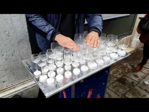 Harry Potter's Theme Song Played on Glass Harp