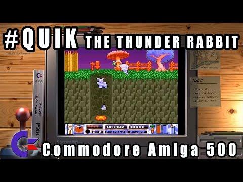 Quik The Thunder Rabbit - Commodore Amiga 500 Gameplay Demo