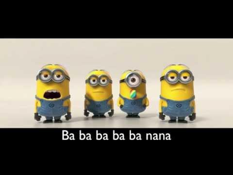 Banana Song [with lyrics] [HD]  | Minions | Despicable Me 2