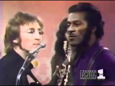 John Lennon and Chuck Berry  Memphis Tennessee.