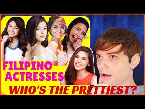 Filipino Actresses - WHO'S THE PRETTIEST? Foreigner reacts to Filipino Celebrities | VLOG 3