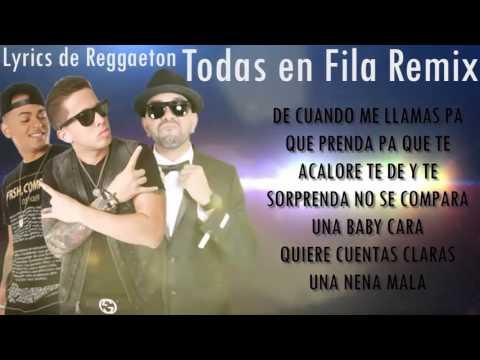 Todas En Fila Remix (Letra/Lyrics) - De la Ghetto Ft. Ozuna,Ñengo Flow,Luigi 21 Plus,Alexio,Pusho