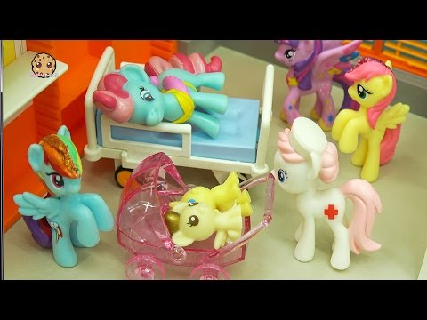Twin Foals & Crystal Surprise Babies At Hospital with My Little Pony