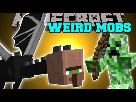 Minecraft: WEIRDEST MOBS EVER! (THE VILLAGER ENDER DRAGON?!?) Mod Showcase