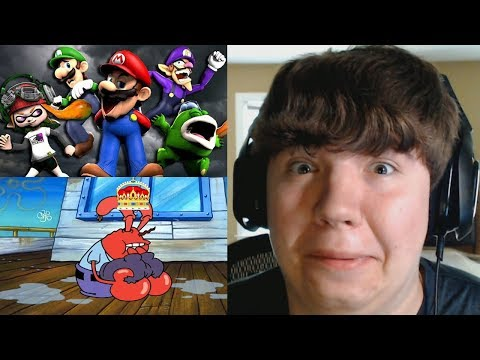 Reaction Monday #4 - The Mario Channel: MARIO'S CHALLENGE + Mr Krubby Krabby Avenges Pearl Harbor
