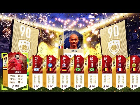 I Packed 2 Insane French Icons!! Top 100 Monthly & Weekly Rewards!! Fifa 18 Ultimate Team