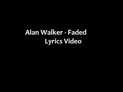 Alan Walker (feat. Iselin Solheim) - Faded (Lyrics Video)