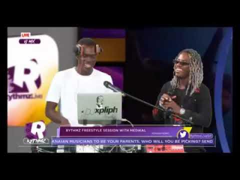 Medikal drops the 'illest' freestyle on #RythmzLIVE on GHOne TV
