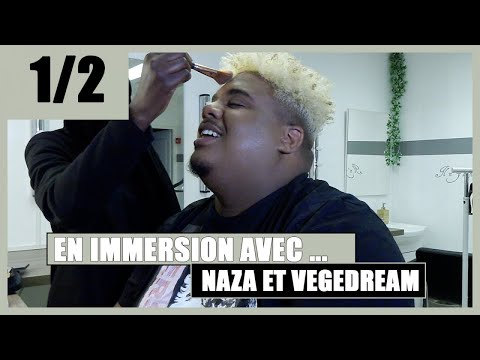 En immersion avec Naza en séance make up pour son clip avec Vegedream ????????????
